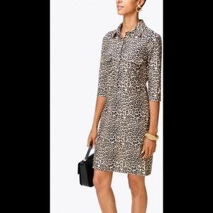 JUDE CONNALLY Sloane Mini Leopard Henley Dress NWT